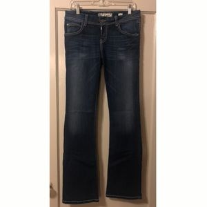 Buckle long, flare jeans